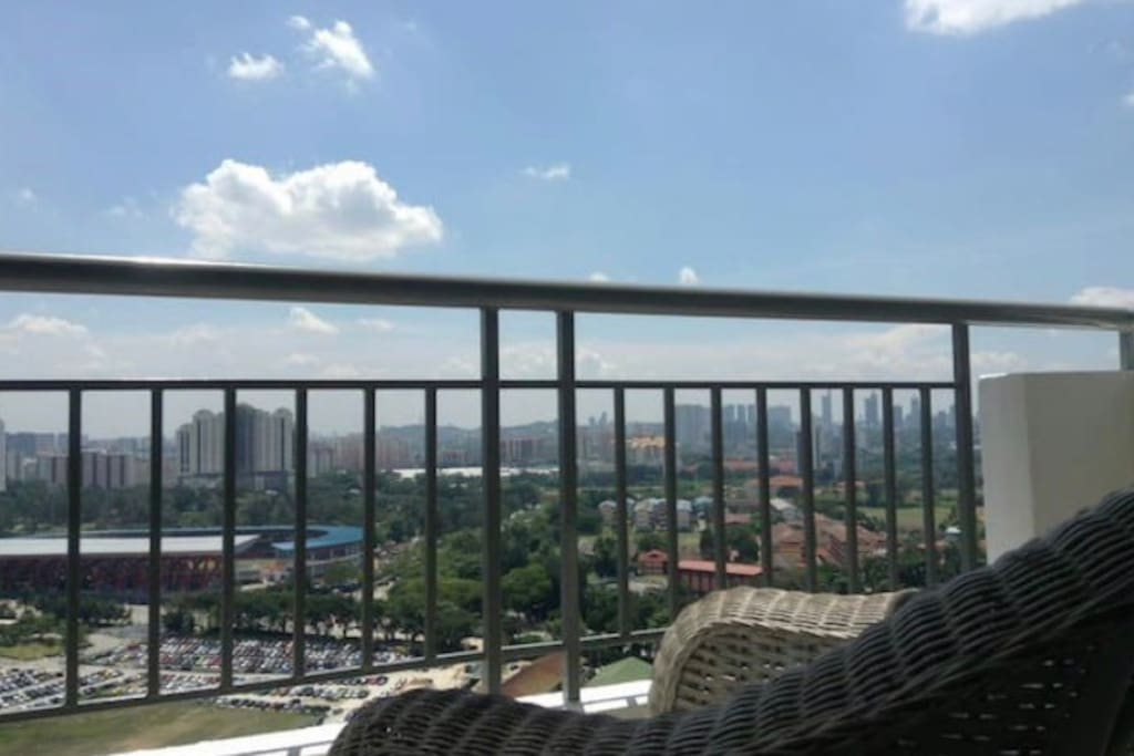 Balcony: Relax in the privacy of our balcony and enjoy the panoramic view of KL city.