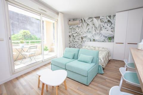 Splendide studio Design frontiere Monaco + parking