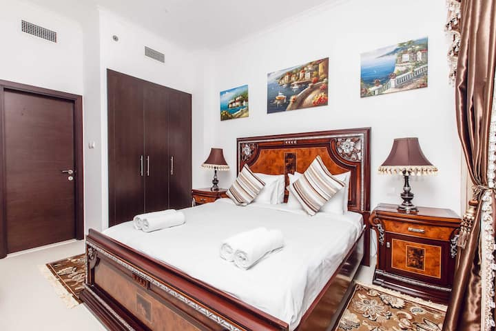 1BR with amazing Sea view , near the beach JBR