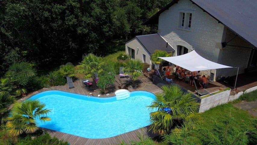Villa 9 personnes  proche de Chinon
