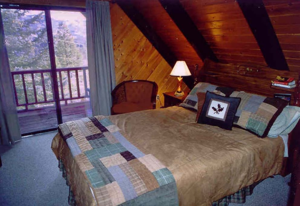 Master bedroom w/deck, TV and views!