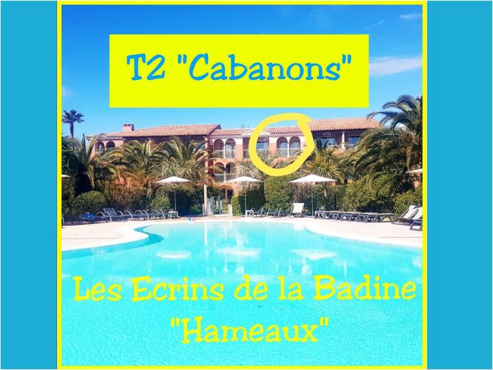 T2 Cabanons 5pers-Ecrins dela Badine-piscine plage