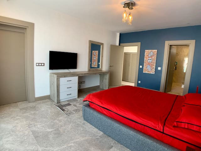Master Bedroom with 49inch Lcd Tv