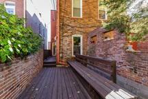 outdoor deck off back door