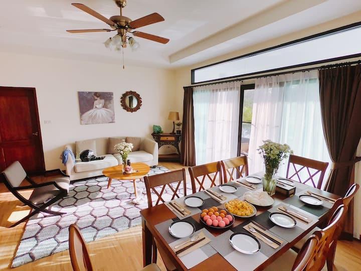 高尔夫别墅,泳池度假三卧室,华人社区清迈旅居首选