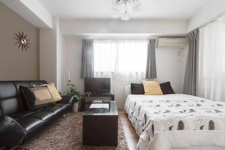Best stay for Osaka!Modern cozy  Max4 +pWifi #4M7 - Nishi-ku, Ōsaka-shi - Wohnung
