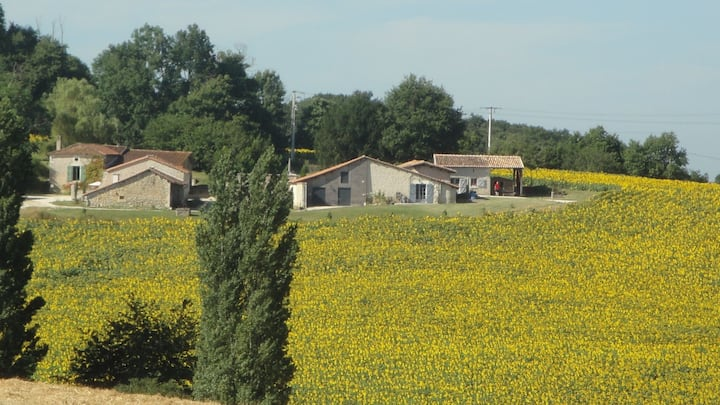 Tournesol Holiday Cottage with Pool