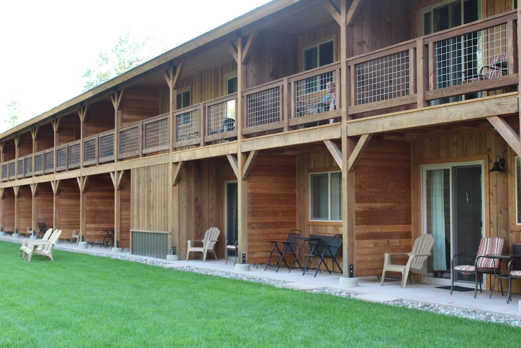 A beautiful place to relax at the Methow River Lodge & Cabins.