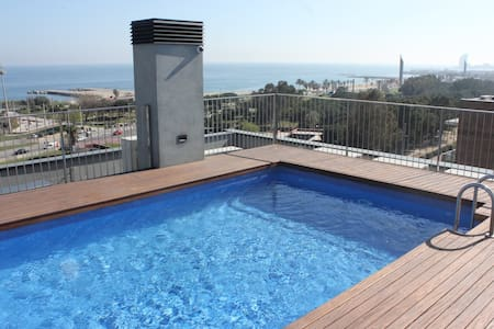Apartment First Line of the Beach, Rooftop Pool - 巴賽隆納 - 公寓