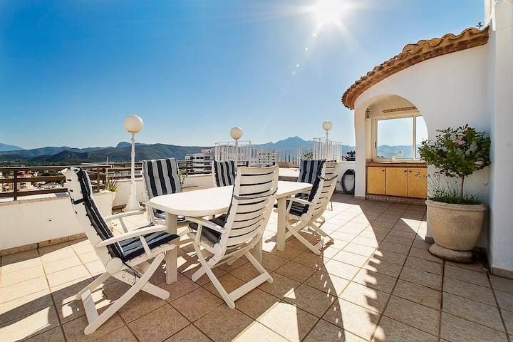Familias: Impresionante ático 1ªlínea Playa Gandia