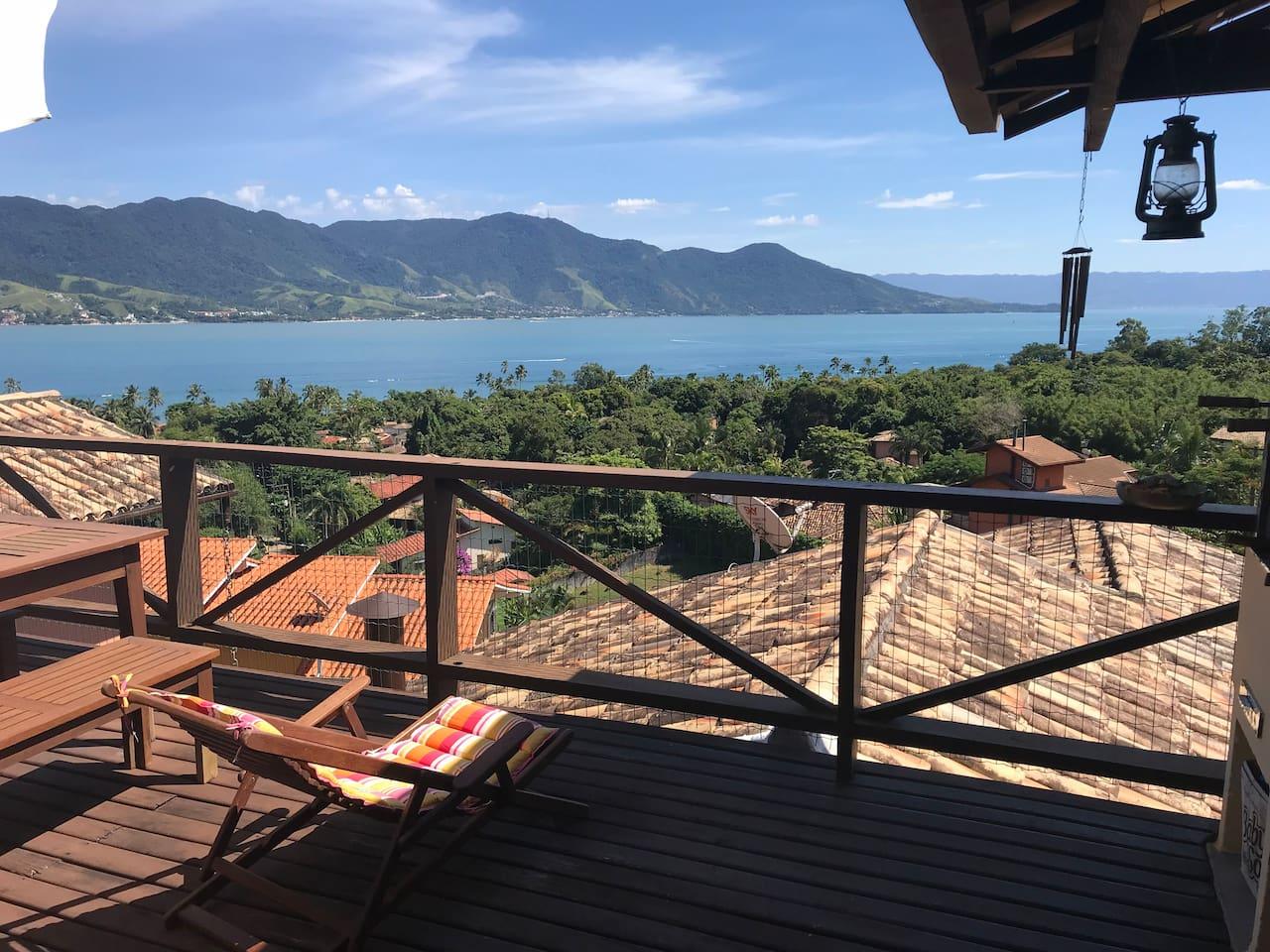 Azul Marinho - Ilhabela - Janela para natureza - Nature view, sea, hills and Mata Atlantica tropical Forest;