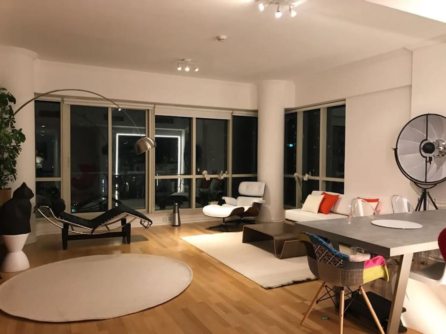 Living room - most of our furniture is from European designers