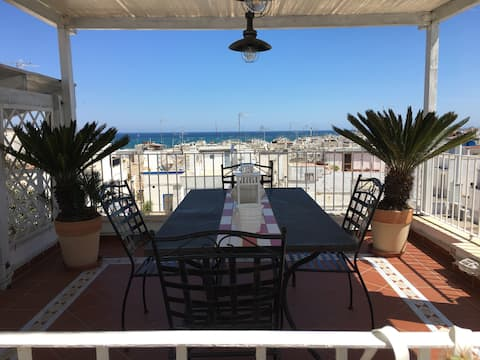 Casa Levante and terrace with sea view
