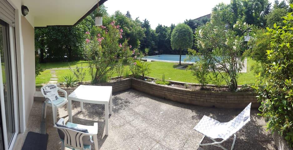 Con giardino privato a 5 minuti dal centro e terme