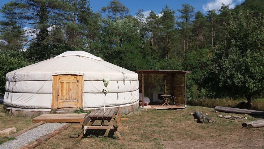 Durmiendo en una Yurta ...
