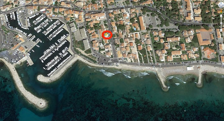 T2 bas de villa - Plage 80m - Parking jardin clos