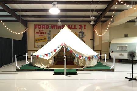 Yurt #7 inside Lone Star Glamp Inn - Round Top - Iurta