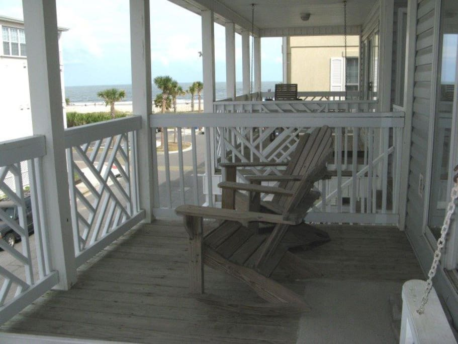 Enjoy the ocean view from your private deck and you are just steps to the beach as well