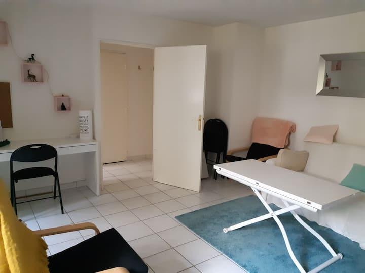 Bel appartement F2  avec jardin proche de Paris