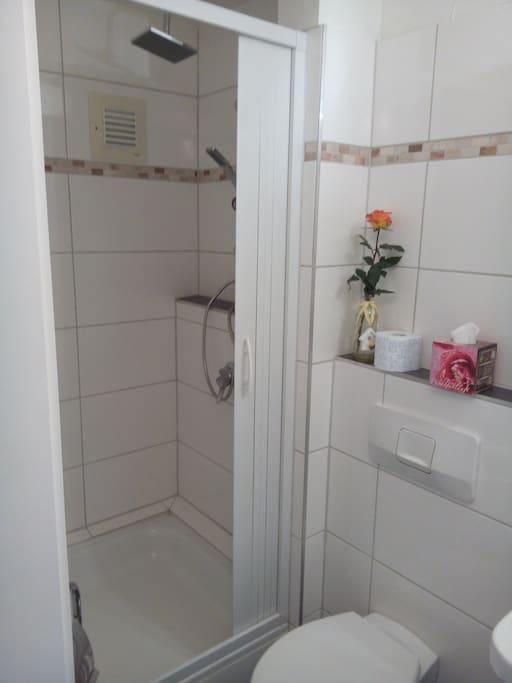 Badezimmer mit Überkopf-Dusche