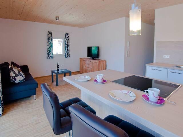 Winzercafe Neipperg Ferienwohnungen GbR (Brackenheim), Ferienwohnung Trollinger, 45qm, 1 Schlafzimmer, max. 2 Personen
