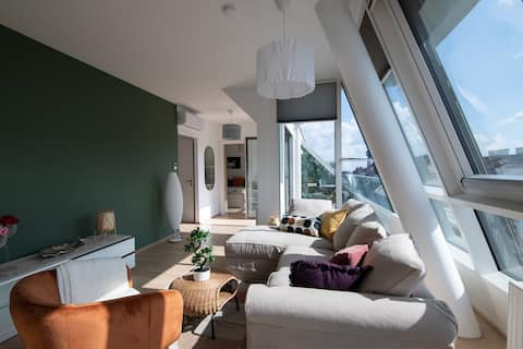 Roof Top Flat with Private Balcony