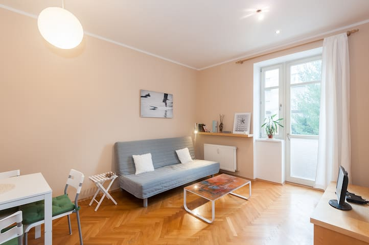 Walk to centre, jog by river - Praha - Appartement