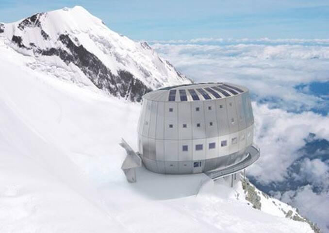 Le refuge du goûter, la voie royale pour le Mont Blanc