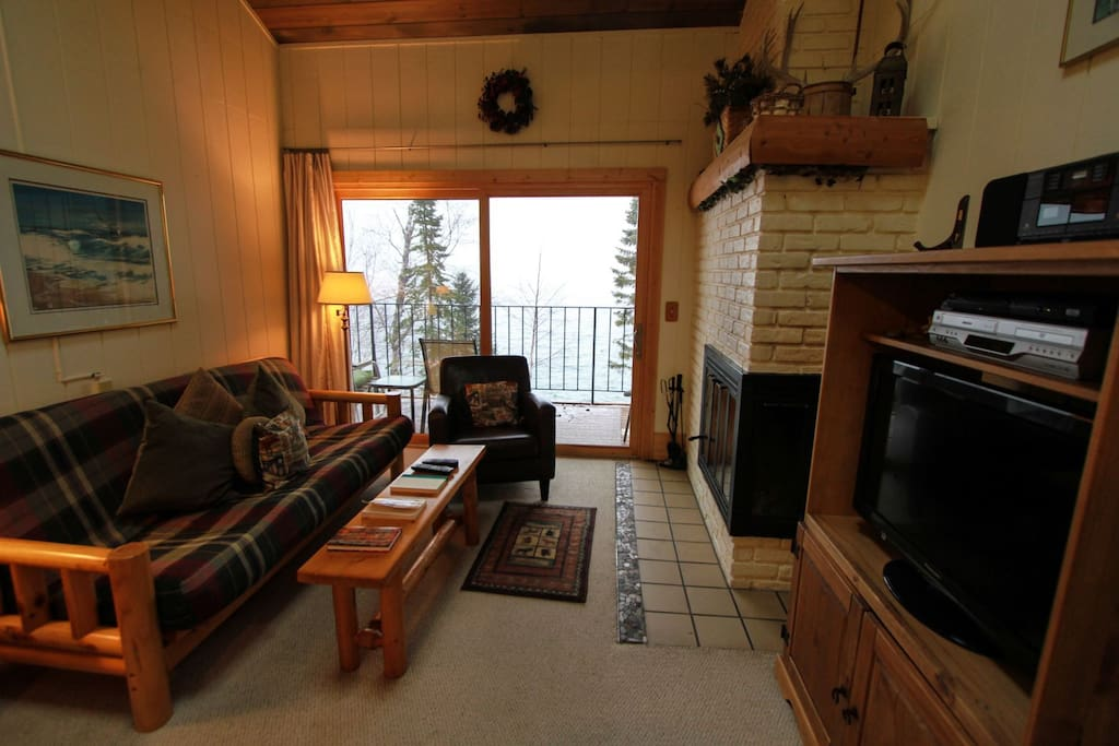 Enjoy a gorgeous view of Lake Superior from your own private balcony.