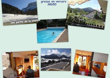 Agréable studio cabine de 25 m2 proche des pistes - Gresse-en-Vercors