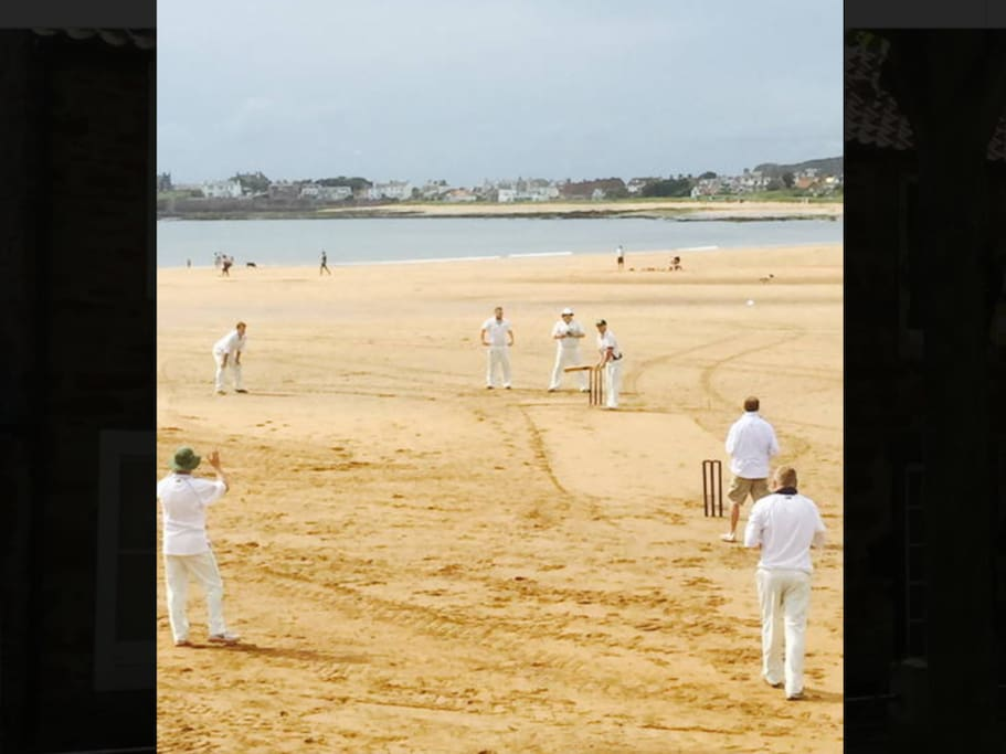 Check out the Ship Inn beach cricket schedule. Late spring, summer & early autumn. Enjoy from the beer garden.