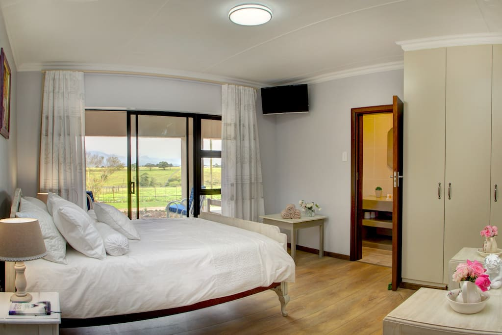 Room 2 - Double  bed, with shower, single basin and toilet. Air conditioning and Cable TV in Room