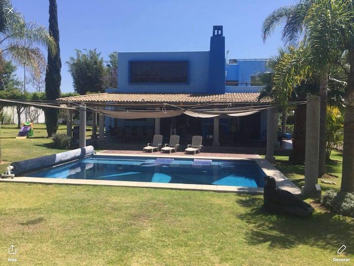 Atlixco, casa azul