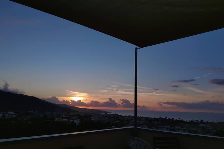 """Tramonto sul Golfo"" - ""Sunset over the Gulf"""