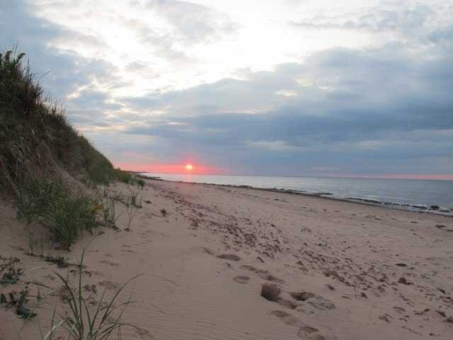 lots of sand on this beach and wonderful sunsets