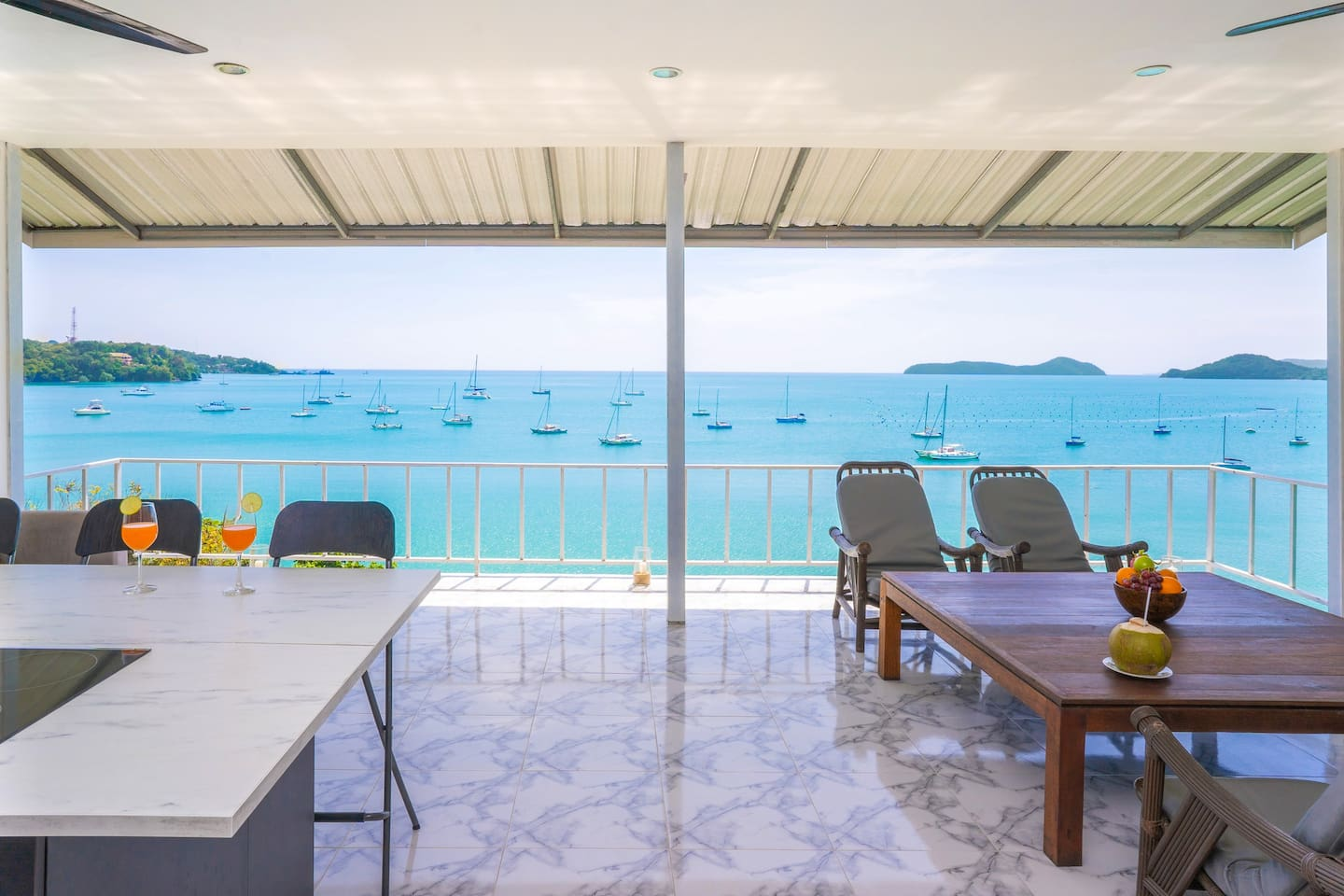 Experience the charm of tropical living lifestyle from this modern house right above the beach.