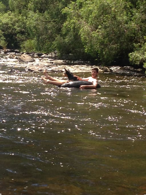 Relaxing down the rapids