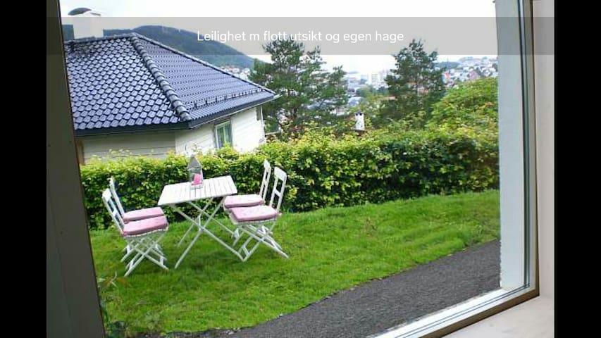 Garden flat, quiet, central - Bergen