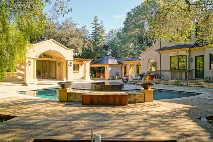 Back yard with swimming pool