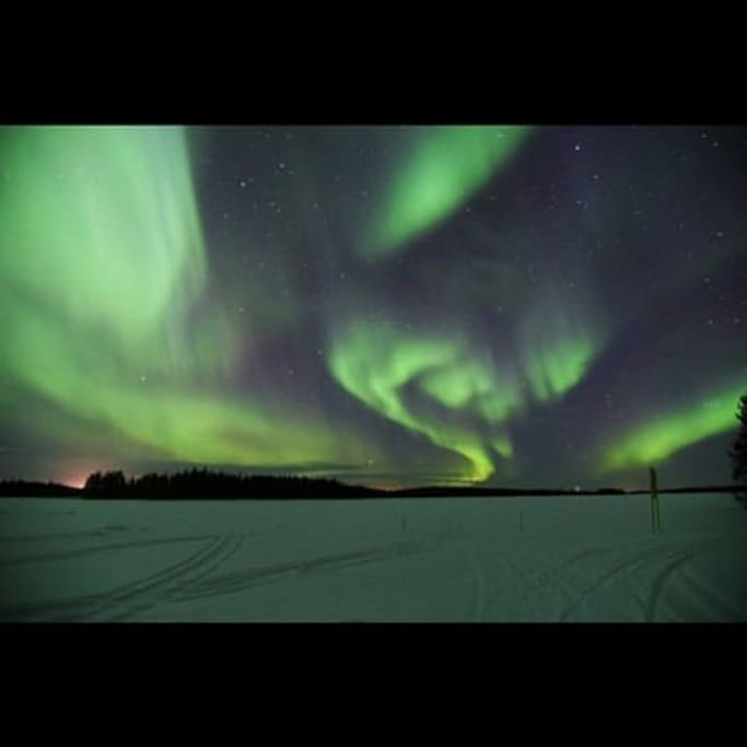 View of Northern Lights from Lake in back yard :)