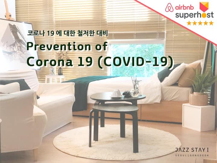 |NEW| Art studio [JAZZ STAY] 30 sec Gongdeok Stn.