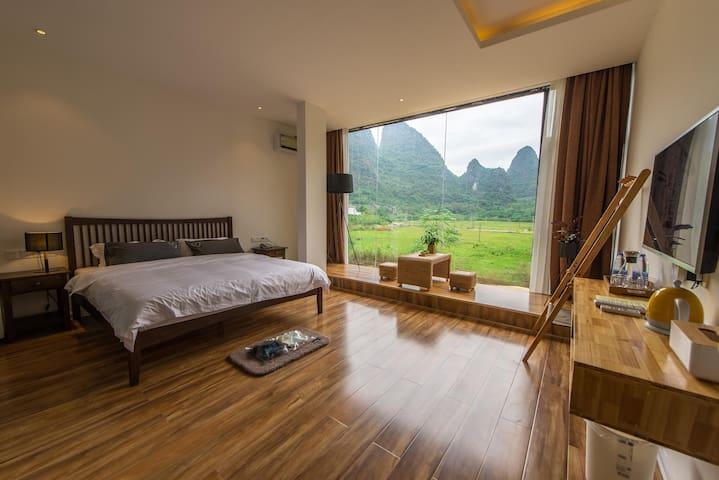 1Q84宿-标准全山景大床房 - Guilin - Bed & Breakfast