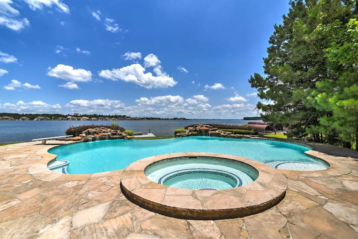 This home offers a private pool and hot tub!