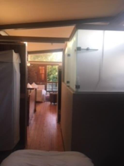 Bedroom sliding door to lounge