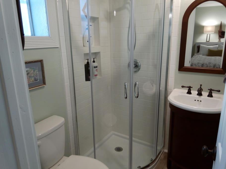 Recently remodeled shower!