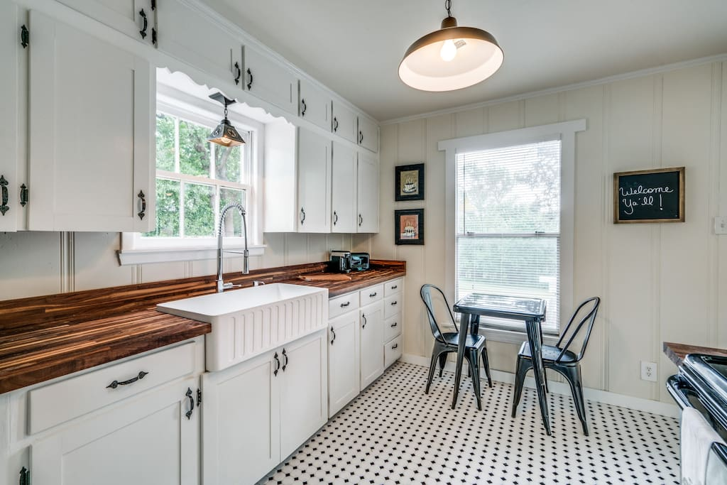 Fully equipped and recently remodeled kitchen