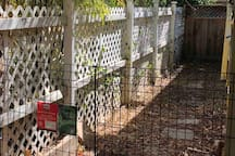 Dog Run and Private Fenced in Play area.