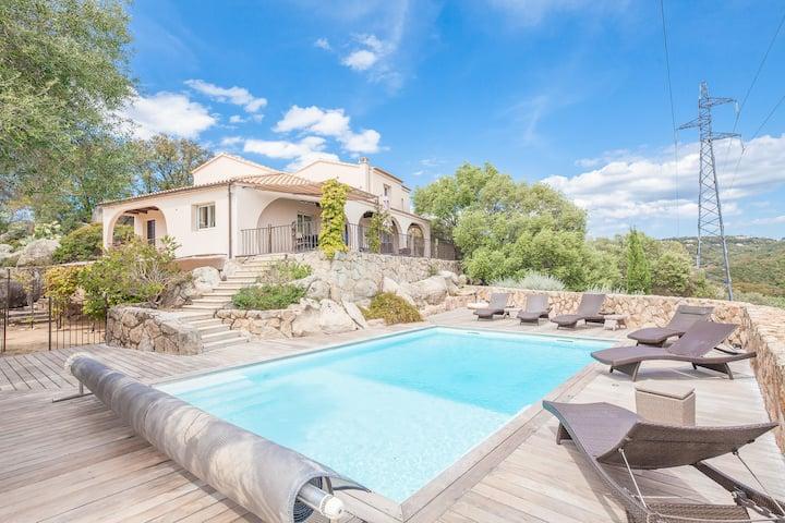 Villa 10 pers - Piscine Privée - Vue mer