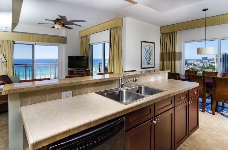 Luau I (PHONE NUMBER HIDDEN) (S)(Su) - 16th Floor - 3BR 3BA - Sleeps 9 - Miramar Beach - Condominium
