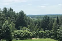 This is a view from the window, showing Canada and the St. Croix River